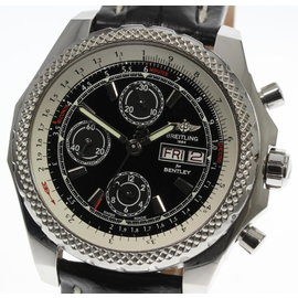 Breitling Bentley GT2 A13365 Stainless Steel / Leather Automatic 45mm Mens Watch