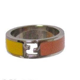 Fendi Silver Tone Hardware Ring Size 7.5