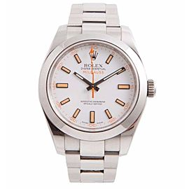Rolex Milgauss 116400 Stainless Steel White Dial Automatic 40mm Mens Watch