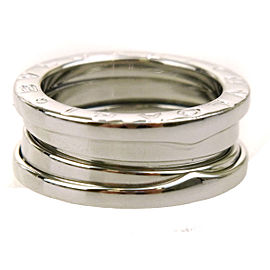 Bulgari B-zero1 Vintage 18K White Gold Ring Size 4.5