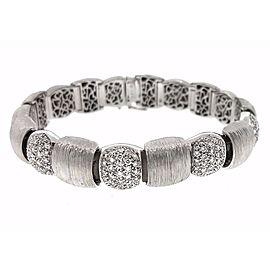 18K White Gold 1.75ctw Diamond Bracelet