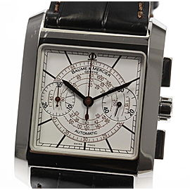 Baume & Mercier Hampton 65530 Stainless Steel / Leather Automatic 34mm Mens Watch