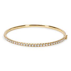 18K Yellow Gold 3.12ct Diamond Bangle Bracelet