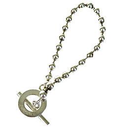 Gucci 925 Sterling Silver Logos Chain Bangle Bracelet