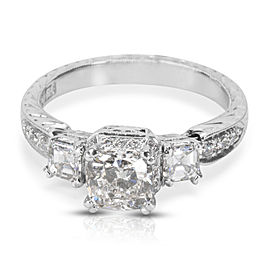 Tacori Platinum with 1.50ct. Diamond Engagement Ring Size 6.25