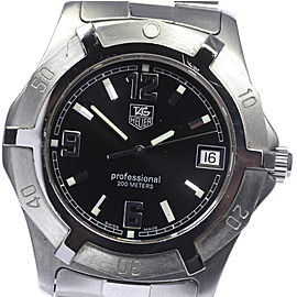 Tag Heuer Diving Professional WN1110 Stainless Steel Quartz 38mm Mens Watch