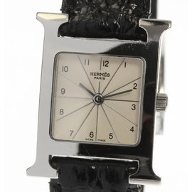 Hermes H HH1.210 Stainless Steel / Leather Quartz 21.5mm Womens Watch