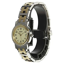 Hermes Clipper CL4.220 Stainless Steel / Gold Plated Quartz 24mm Womens Watch