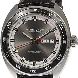 Hamilton Bakery Euro H354150 Stainless Steel / Leather 42mm Mens Watch