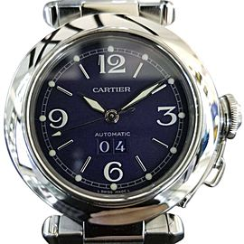 Cartier Pasha 2475 Stainless Steel Blue Dial Automatic 36mm Unisex Watch