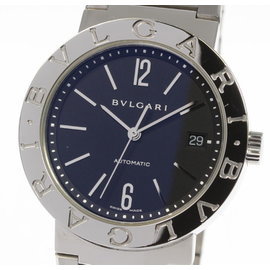 Bulgari BB38SS Stainless Steel with Black Dial Automatic 38mm Mens Watch