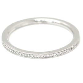 Harry Winston 950 Platinum 0.14ct. Diamond Eternity Ring Size 6