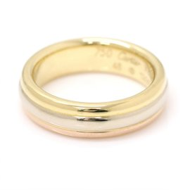 Cartier Trinity 18K Yellow, White and Rose Gold Ring Size 3.75