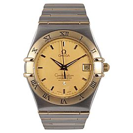 Omega Constellation 368.1201 Two Tone Stainless Steel & Yellow Gold Automatic 36mm Mens Watch