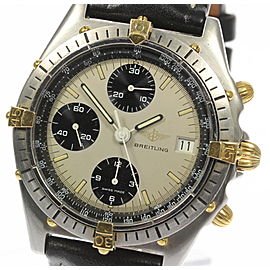 Breitling Chronomat 81950 Stainless Steel/Gold Plated & Leather Automatic 39mm Men's Watch