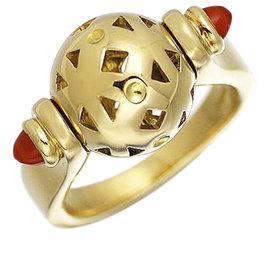 Bulgari 18K Yellow Gold with Chalcedony Ring Size 6