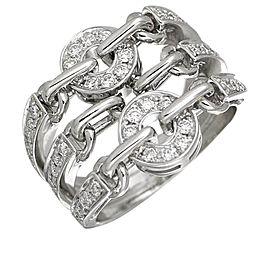Bulgari 18K White Gold with Diamond Astrare Cherki Dialing Ring Size 7