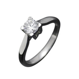 Harry Winston Platinum 0.529ct Diamond Ring Size 5.5