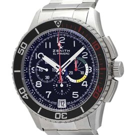 Zenith Stratos 03.2061.405 Stainless Steel Automatic 45.5mm Mens Watch