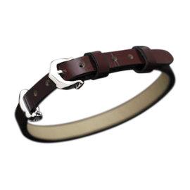 Cartier 18K White Gold & Leather Bracelet