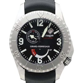 Girard Perregaux Sea Hawk 49915 Stainless Steel & Rubber Automatic 43mm Mens Watch