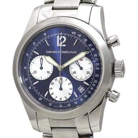 Girard Perregaux Chrono Sports 2000 4956 Stainless Steel Automatic 40mm Mens Watch