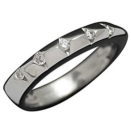 Damiani 18K White Gold With Diamond Ring Size 6