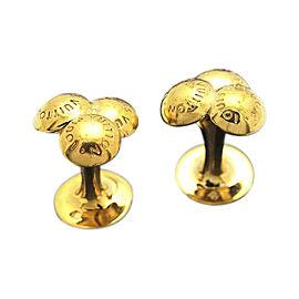 Louis Vuitton Bouton De Manchette Gold Tone Hardware Bouquet De Crew Motif Cuffs
