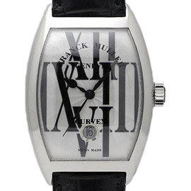 Franck Muller 7880 SCDTRAL Stainless Steel & Leather 36mm Mens Watch