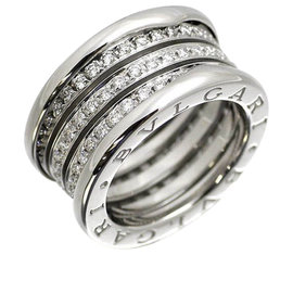 Bulgari B-zero Wanda 18K White Gold with Diamond Ring Size 5.5