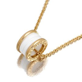 Bulgari B-zero 1 18K Rose Gold & Ceramic Necklace