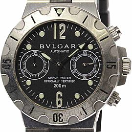 Bulgari Diagono Scuba SCB38S 38mm Mens Watch