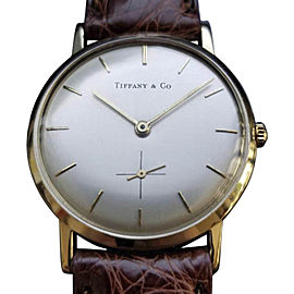 Tiffany & Co. Vintage 32mm Mens Watch 1960s