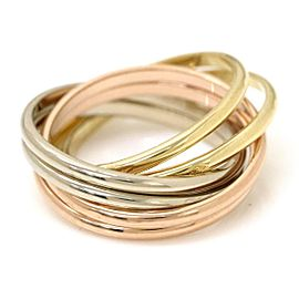 Givenchy 18K Yellow White & Pink Gold Ring Size 4