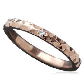 Louis Vuitton 18K Pink Gold & Diamond Alianza Monogram Infini Ring Size 9