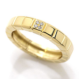 Chopard Ice Cube 18K Yellow Gold with Diamond Ring Size 7