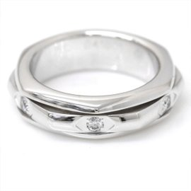 Piaget 18K White Gold with Diamond Possession Ring Size 5.75