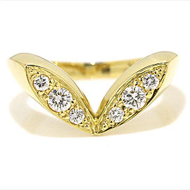 Christian Dior 18K Yellow Gold with Diamond Ring