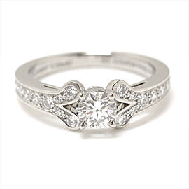 Cartier Ballerine Platinum with 0.50ct Diamond Ring Size 7