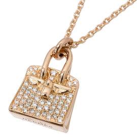 Hermes 18K Rose Gold with Birkin Diamond Necklace