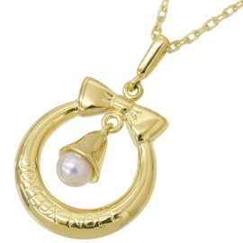 Mikimoto 18K Yellow Gold with Pearl Pendant Necklace