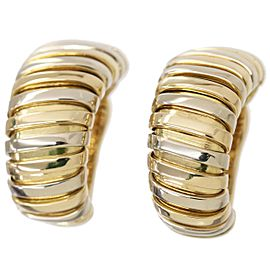 Bulgari Tubogas 18K Yellow and White Gold Earrings