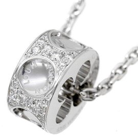 Louis Vuitton 18K White Gold with Diamond Empreinte Pendant Necklace