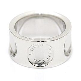 Louis Vuitton Grand Berg Empreinte 18K White Gold Ring Size 4.5