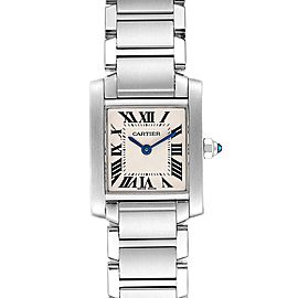 Cartier Tank Francaise Silver Dial Roman Numerals Ladies Watch W51008Q3