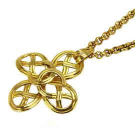 Chanel CoCo Mark Gold Tone Hardware CC Necklace