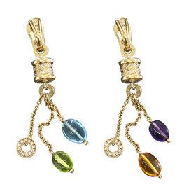 Bulgari B. Zero 1 18K Yellow Gold with Multi-Stone Element Earrings