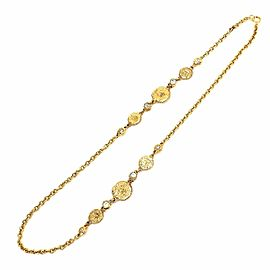 Chanel Gold Tone Hardware Bijoux Coin Motif Necklace