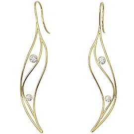 Tiffany & Co. 18K Yellow Gold and Diamond Wave Earrings