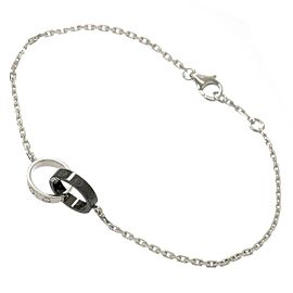 Cartier Baby Love 18K White Gold & Black Ceramic Bracelet